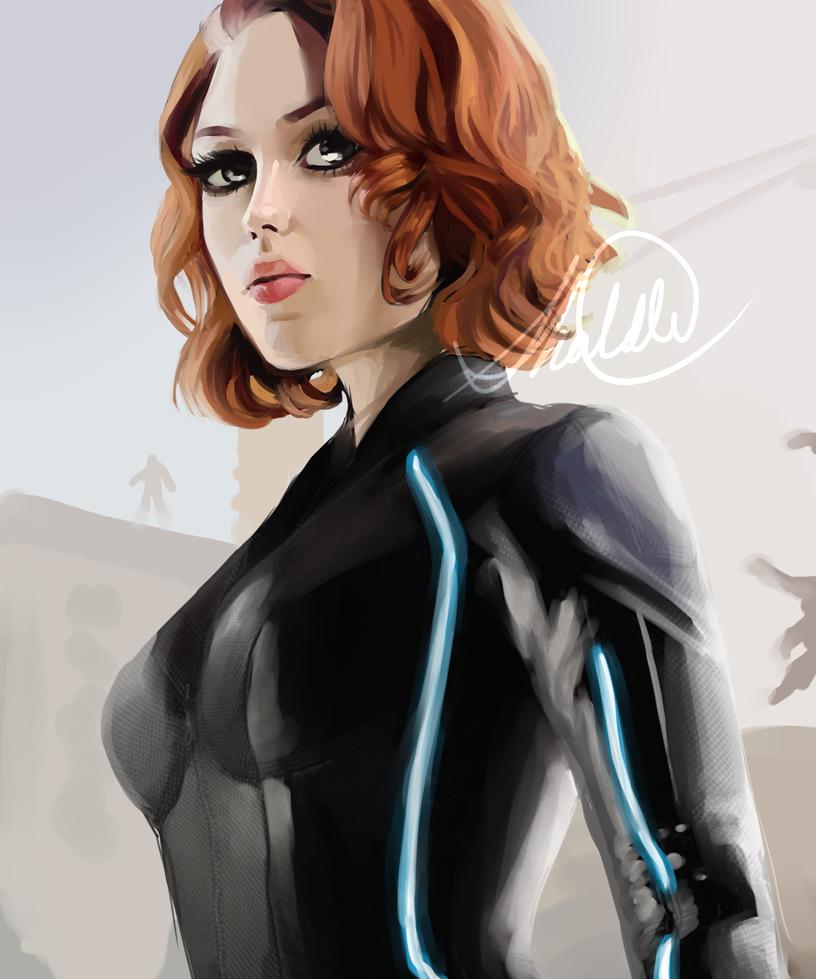 Black Widow by HalChroma
