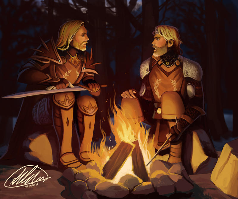 Commission: Aeilus and Donimir by HalChroma
