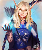 Commission: Lireca Tyra'viere Cloudhaven by HalChroma