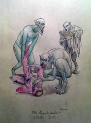 Ghouls eating