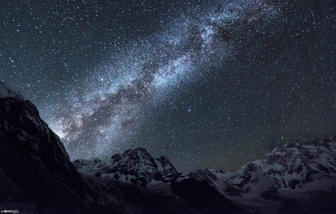 Annapurna Basecamp Milkyway by Neveramez