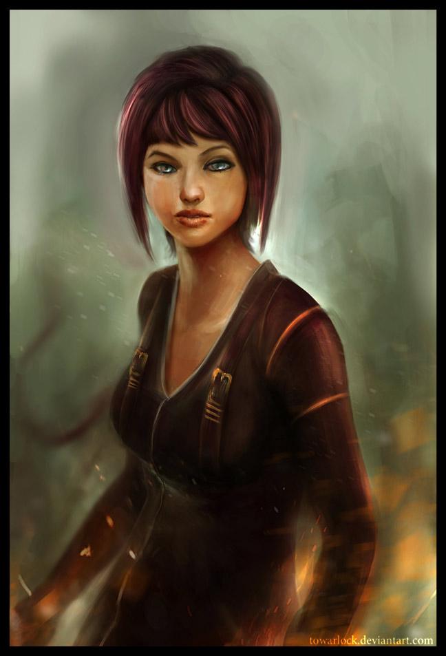 fire power girl by towarlock