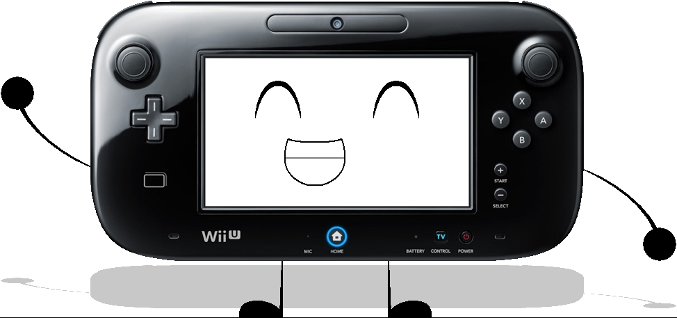 The Wii U Game Pad as a BFDI Character (Black) by MBHrox304alt on