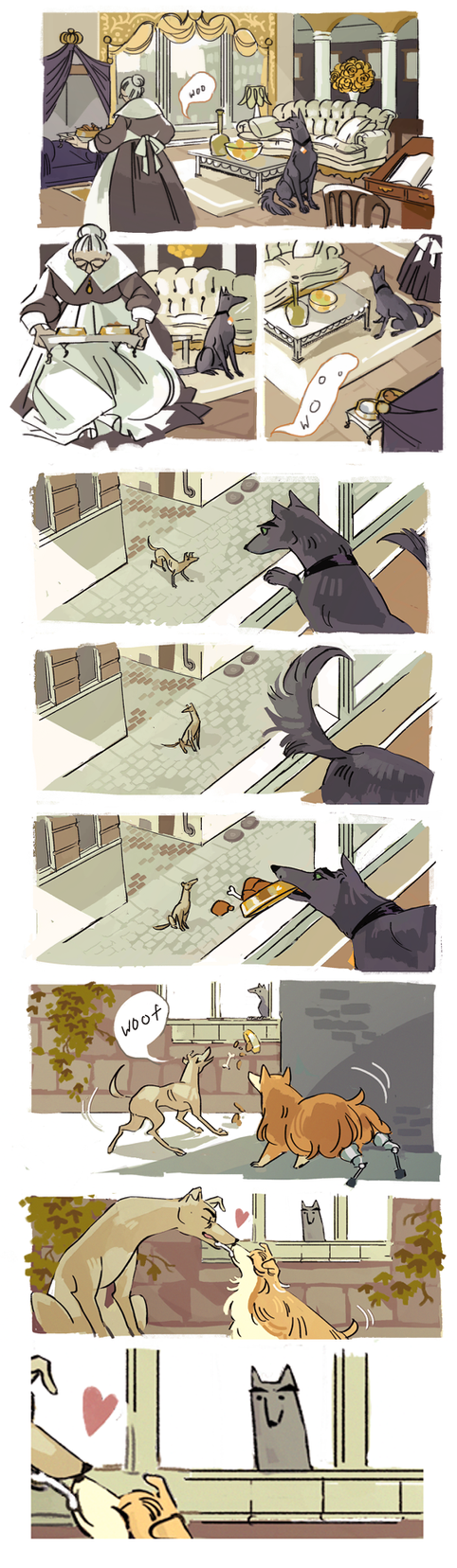 Dog comic by MyDearBasil