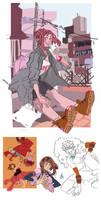 More Ochako doodlez