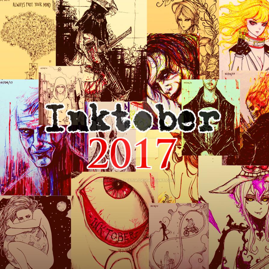 Inktober 2017 promo by Dane-of-Celestia
