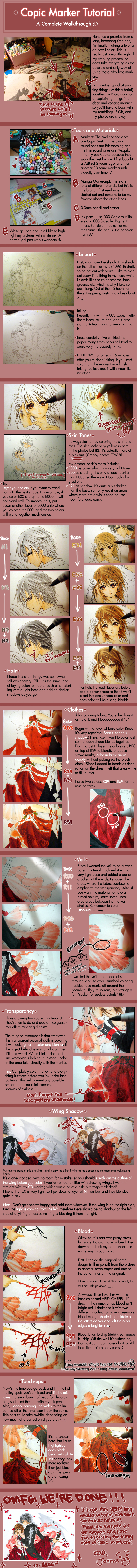 Copic Marker Tutorial I by cartoongirl7