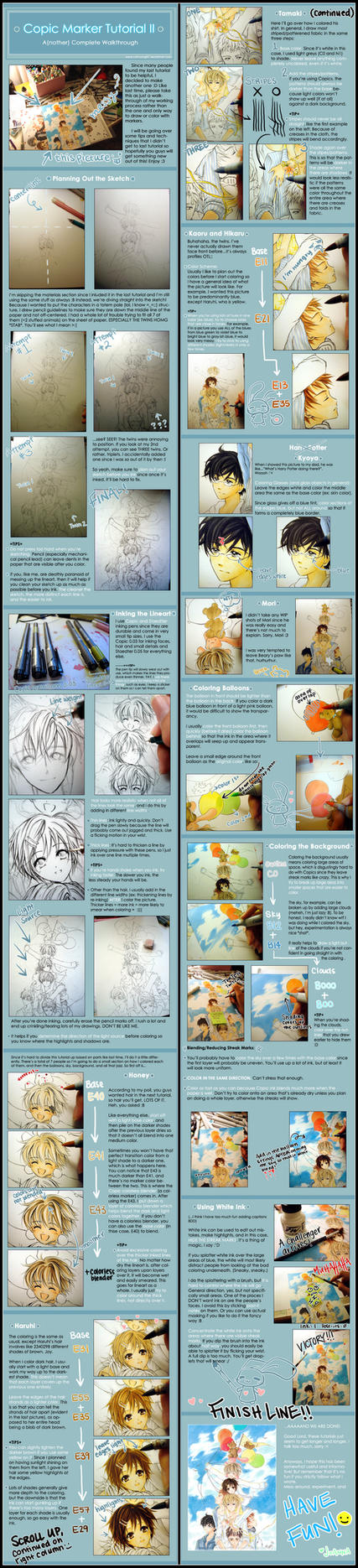 Copic Marker Tutorial II by cartoongirl7