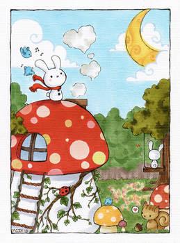 Moon Bunnies by cartoongirl7