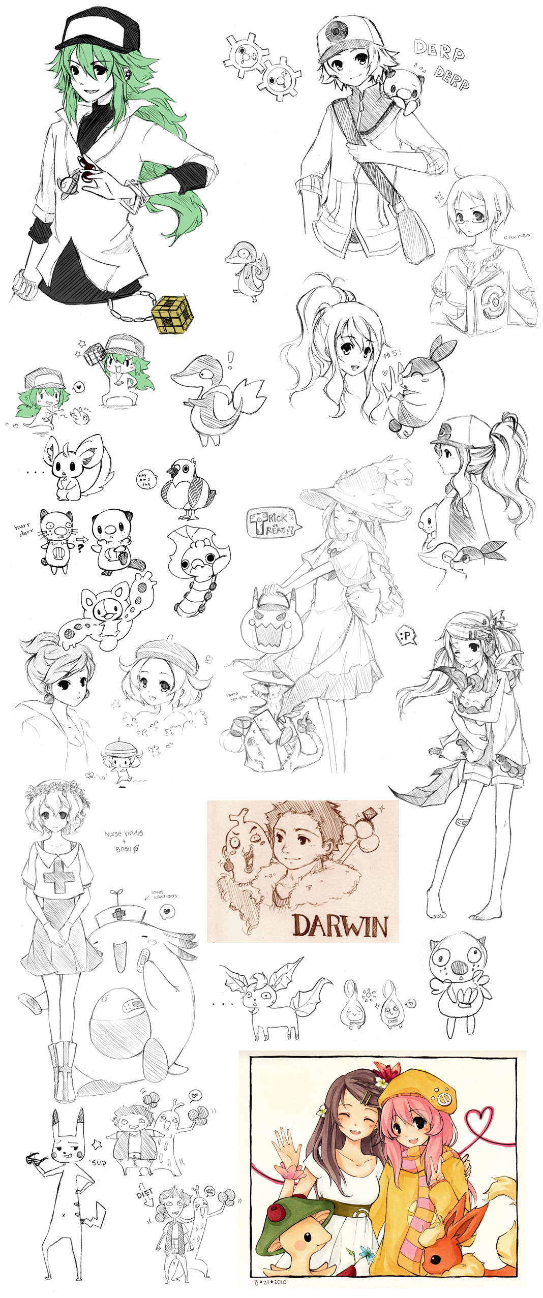 Pokemon Sketch Dump By Cartoongirl7 On DeviantArt