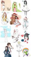 SKETCH DUMP 02 by cartoongirl7