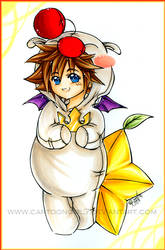 Moogle Sora by cartoongirl7