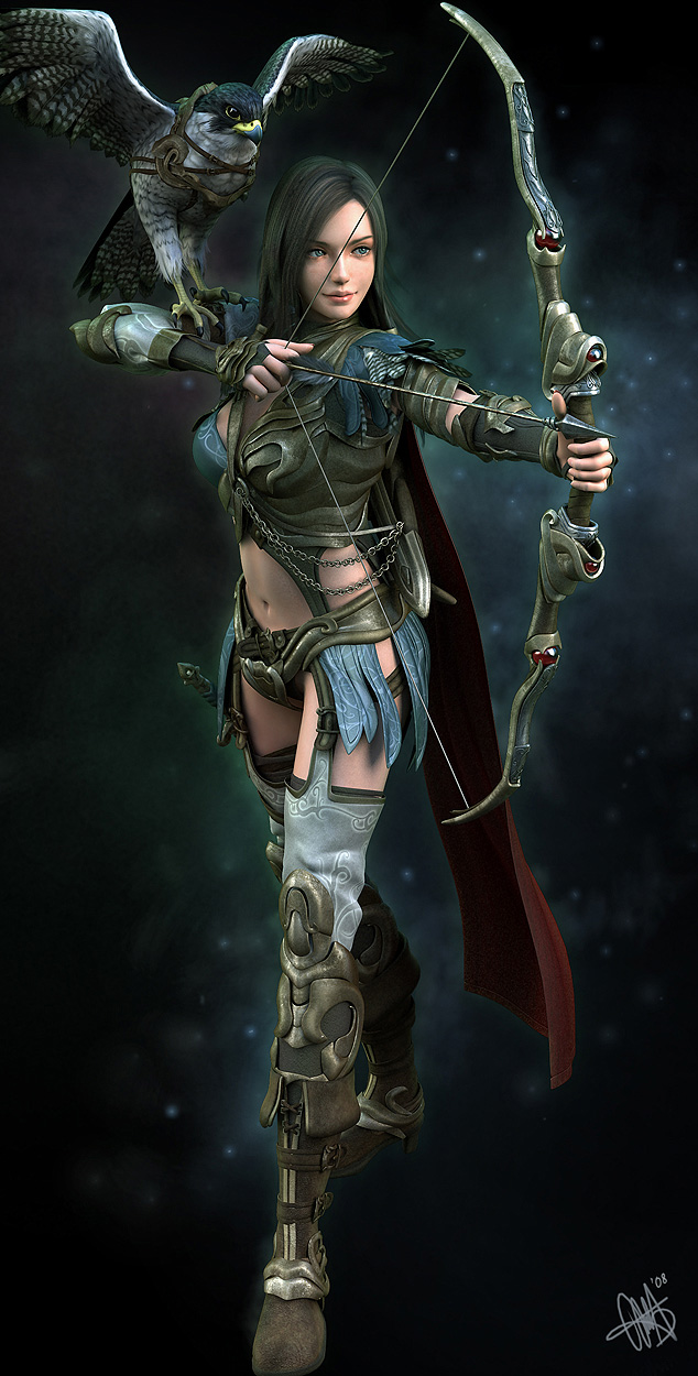 helena archer 3d character
