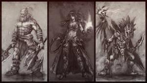 Diablo 3 fanart sketch.. by 3dsquid