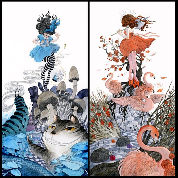 Alice in Wonderland set by reneenault