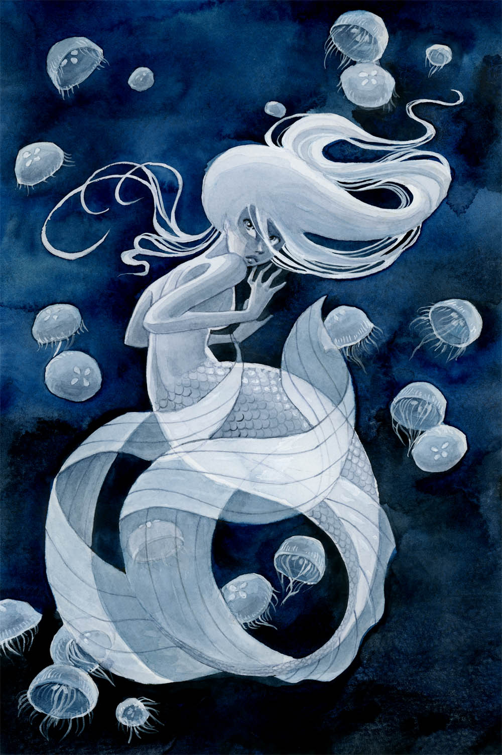 Jellyfish Mermaid by reneenault