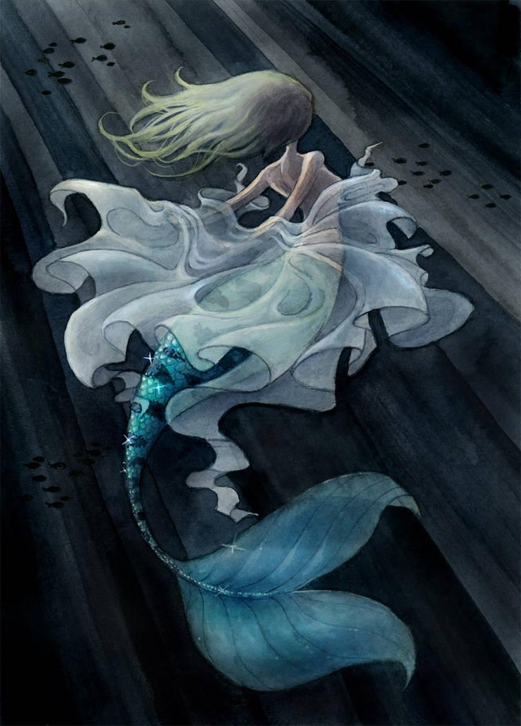 Eel Mermaid [post-transformation] by Blazbaros on