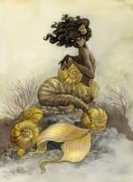 Sea Snail Mermaid by reneenault