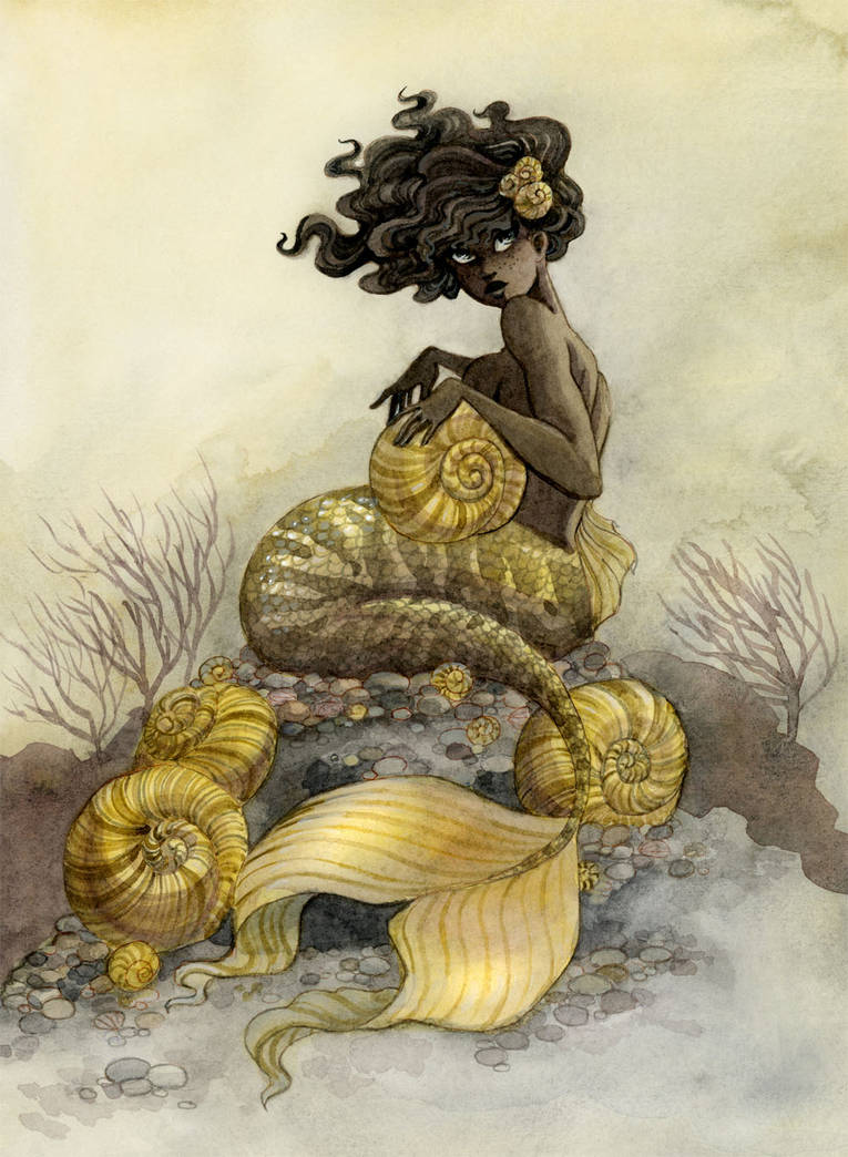 Sea Snail Mermaid by reneenault
