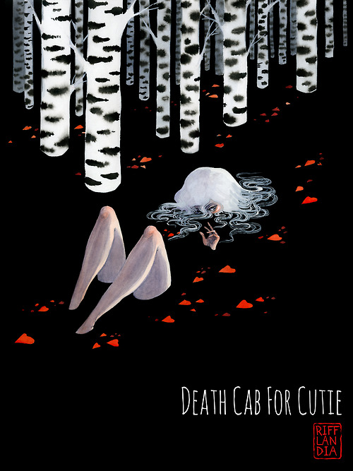 Death cab for cutie, rifflandia 2014 poster by reneenault