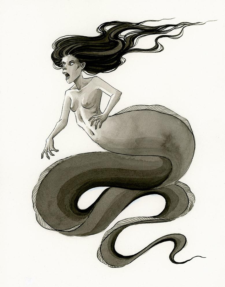 Ribbon Eel mermaid by reneenault
