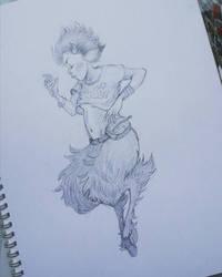 Sketchbook - faun girl