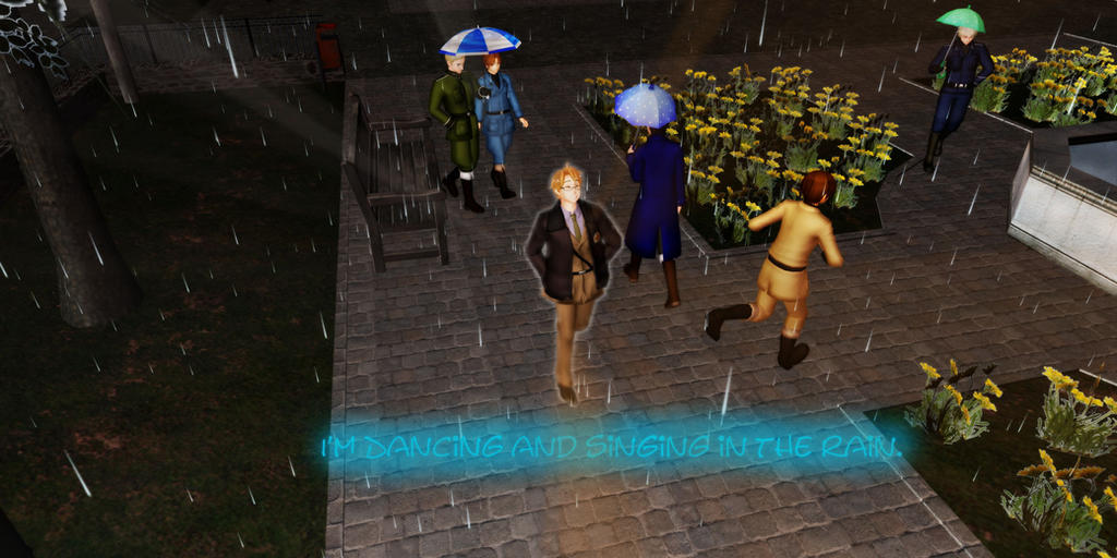 Singing in the Rain. APHXMMD by Toxiclover04 on DeviantArt