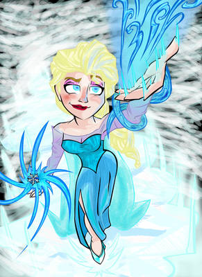 Elsa The Snow Queen (Colored)
