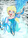 Elsa The Snow Queen (Colored) by Jonny-Aleksey