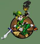 Super Smash Bros: Link and Toon Link by Jonny-Aleksey