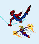 Spidey and Captain Marvel