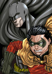 Batman and Robin by marcosgratao