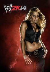 WWE2K14 Custom Cover ft. Trish Stratus by HBKGFX