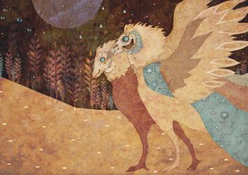 Birds_golden by RedGella