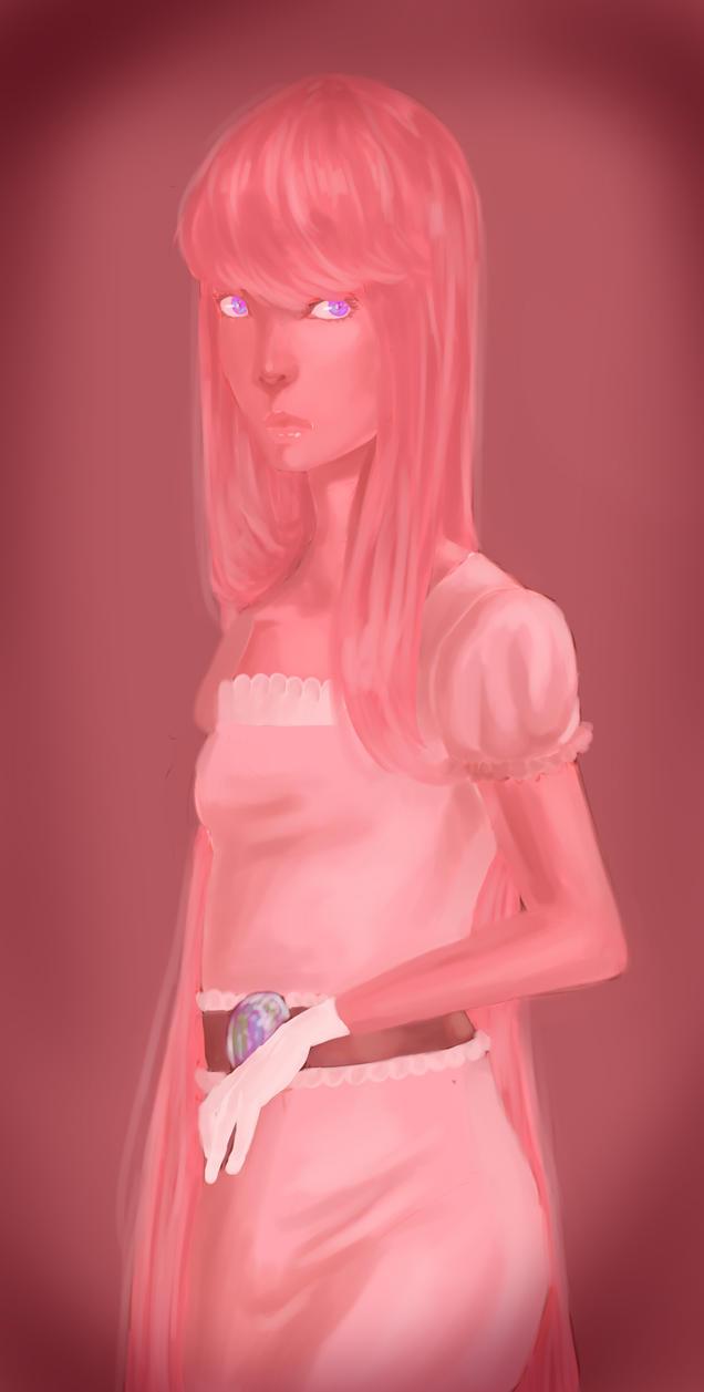 Princess bubblegum portrait by ripe-applez