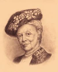 Maggie Smith portrait  ( Downton Abbey )