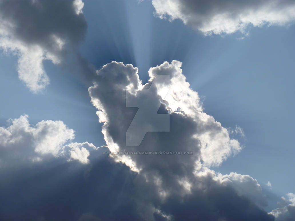 Sun behind Cloud by TheMusicalSalamander