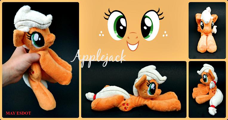 Applejack Baby Beanie MLP Plush by MayEsdot