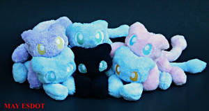 A Full Team of Mew: Pokemon Pile of Beanies by MayEsdot