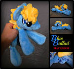 Blue Ballad MLP Stallion OC Beanie Plush by MayEsdot