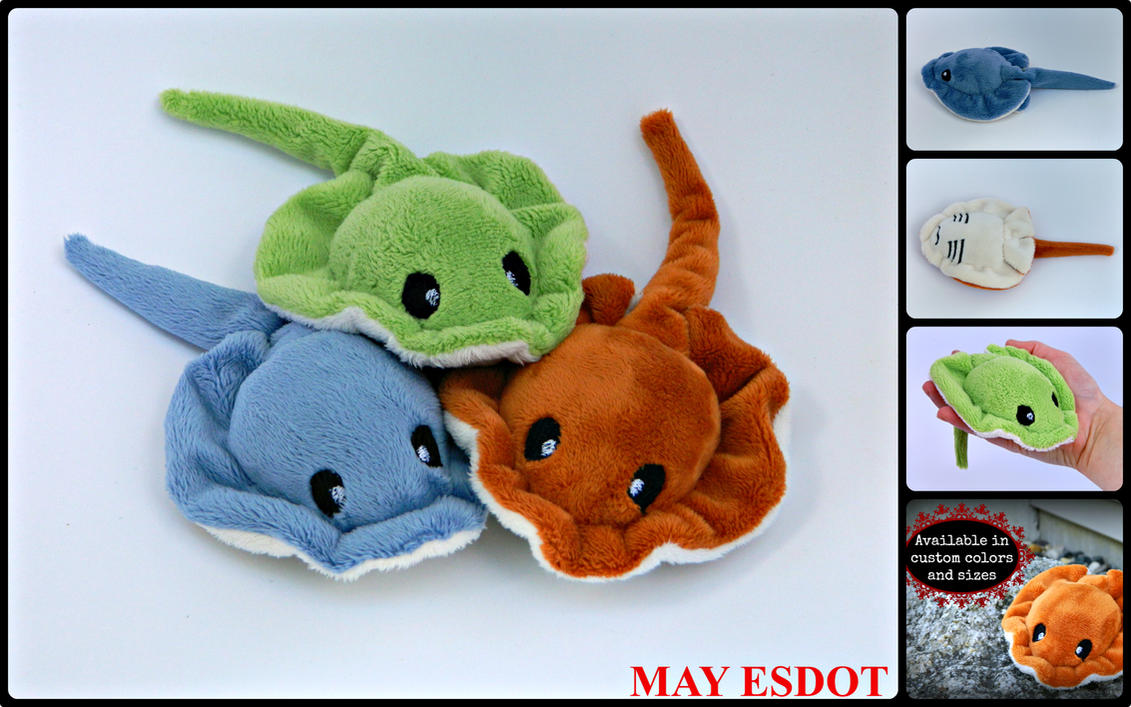 Pocket Plush Stingrays: Custom Order (FOR SALE) by MayEsdot