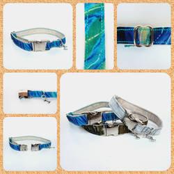 Ocean Water Dog Collar: Handmade FOR SALE