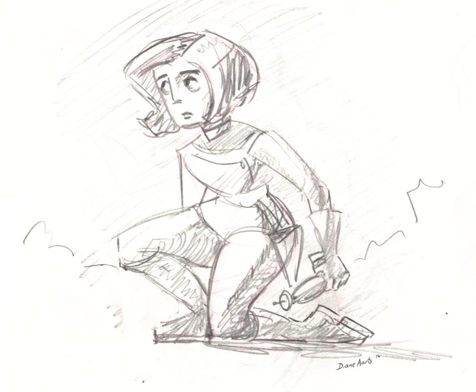 Astronaut girl by Di---Chan