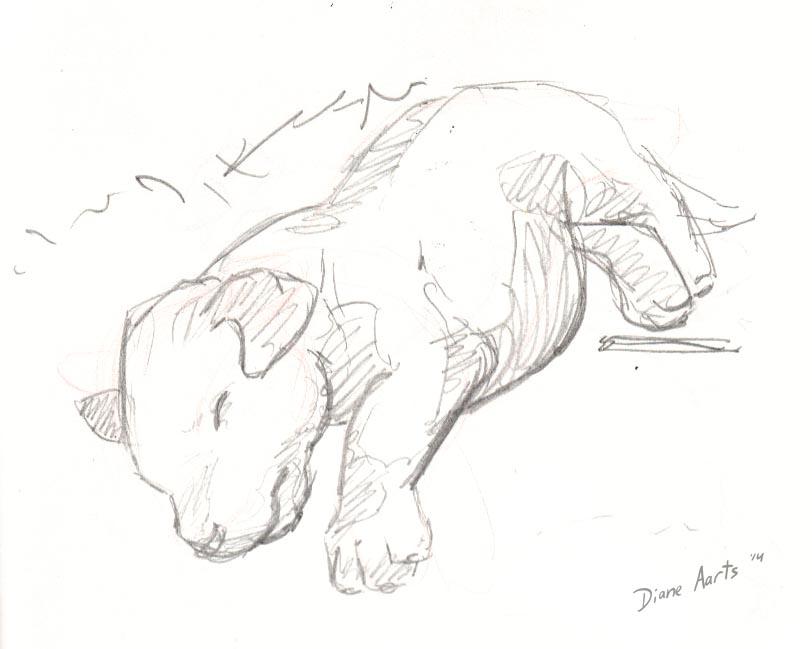 Sleepy pup by Di---Chan