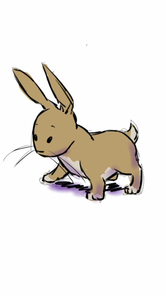 bunny sketch by Di---Chan