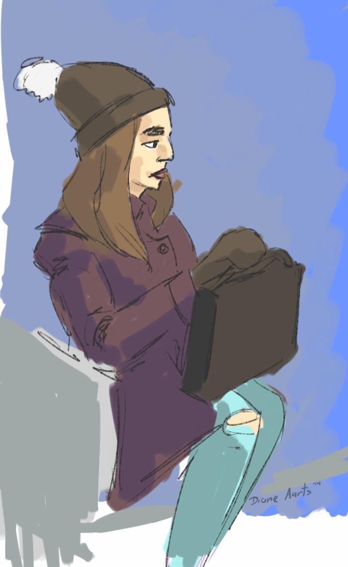 winter bus sketch by Di---Chan
