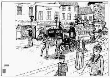 Edwardian Street Scene by felneymike