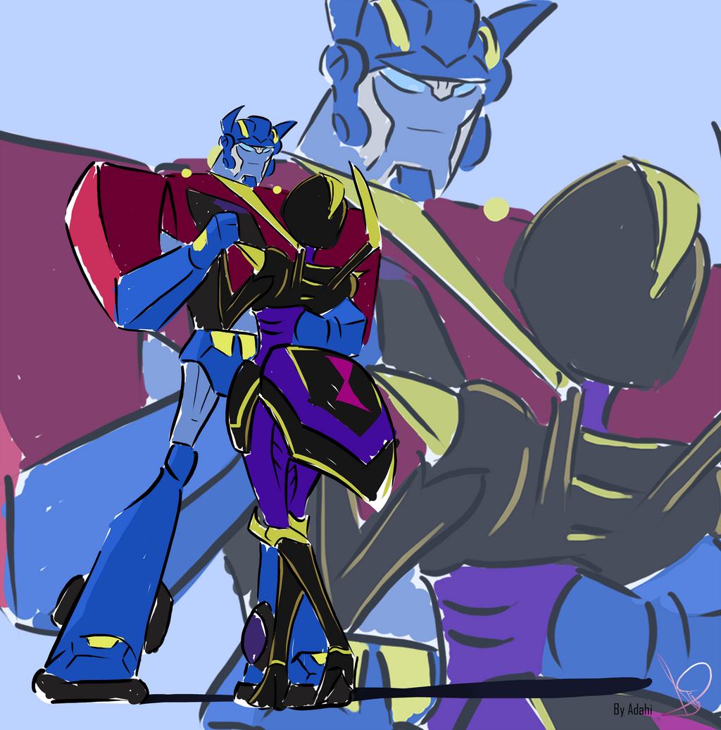 TFA Optimus And Blackarachnia By Adahi By Adahi