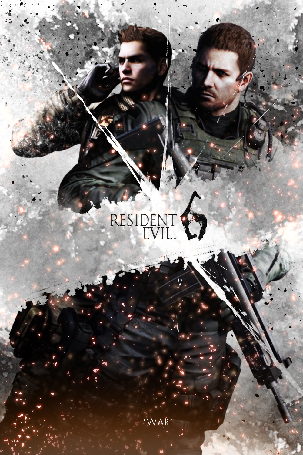 Resident Evil 6 Poster Fanart Chris Story By Kanombravo On