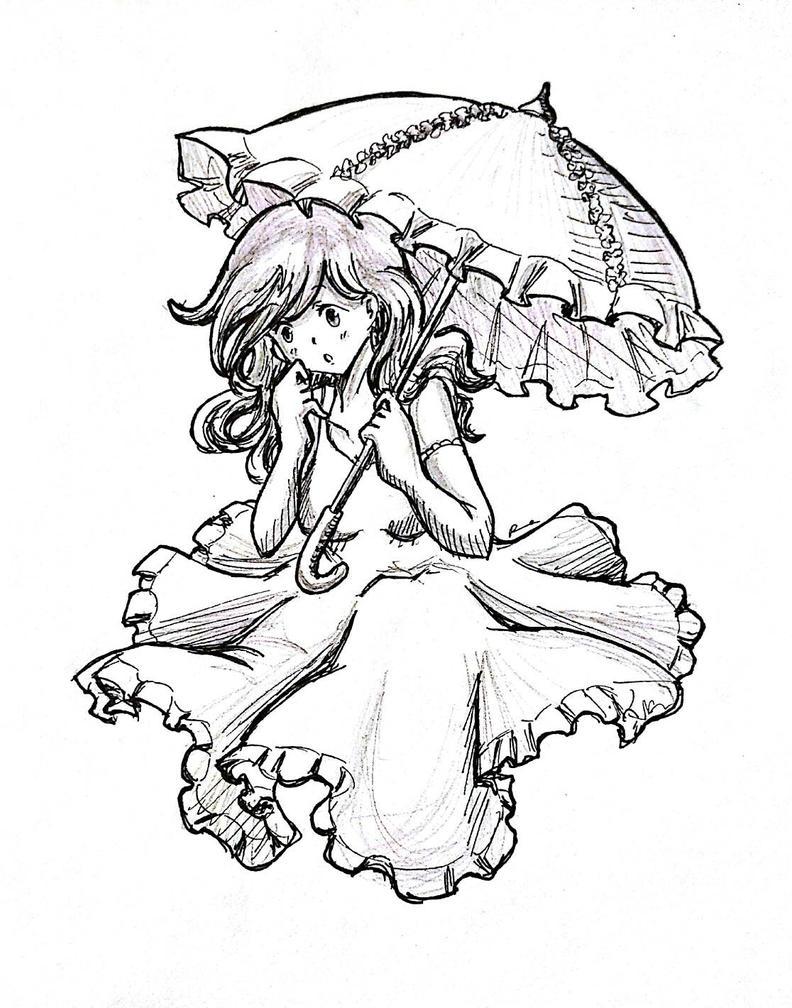 Parasol girl  by ilooovejirachi